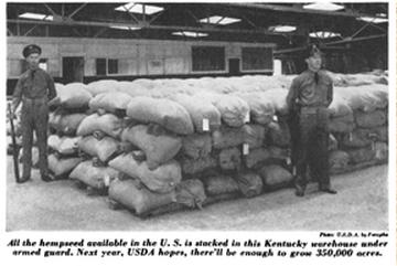 Kentucky hemp for victory during World War II