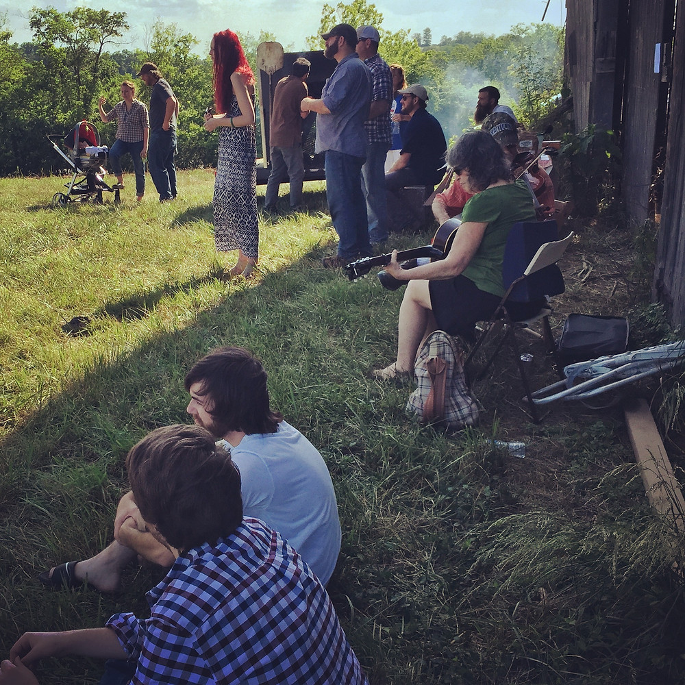 Guests attend the Kentucky Hempsters and Freedom Seed & Feed Hemp History Week event in Lexington on May 30th, 2015.