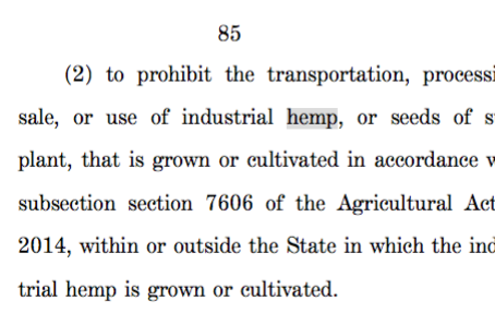 Senate Appropriations Committee approves two bills with hemp provisions