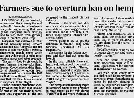 Farmers sue to overturn ban on hemp
