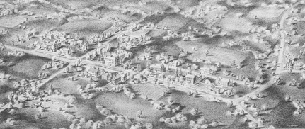 Drawing of Shaker Village of Pleasant Hill Date Unknown