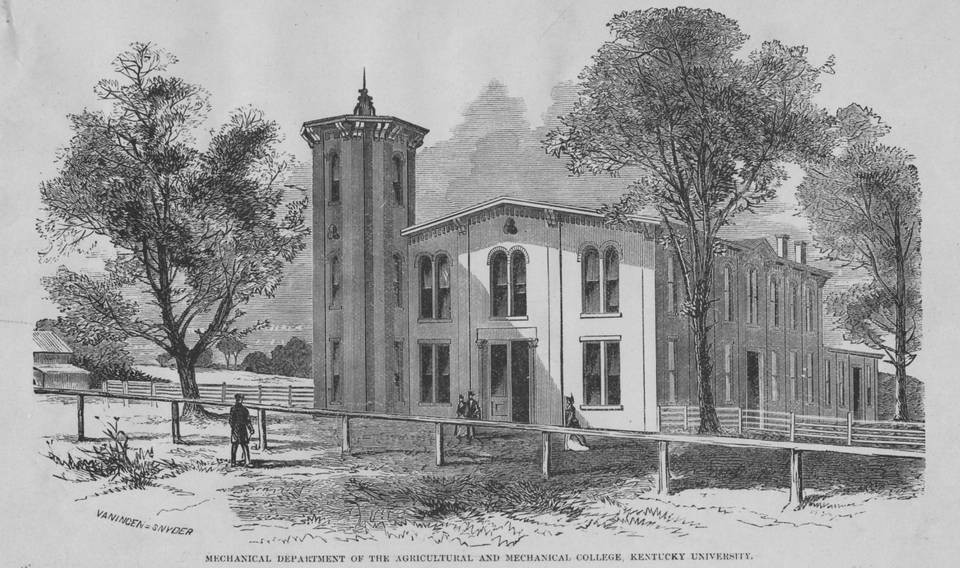 Kentucky Agricultural and Mechanical College at Ashland, 1866 - Courtesy of Kentucky Digital Library