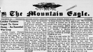 Picture : The Mountain Eagle, March 18, 1943 (Kentucky Digital Library)