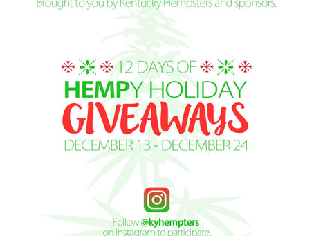 Kentucky Hempsters offer 12 days of hemp holiday giveaways