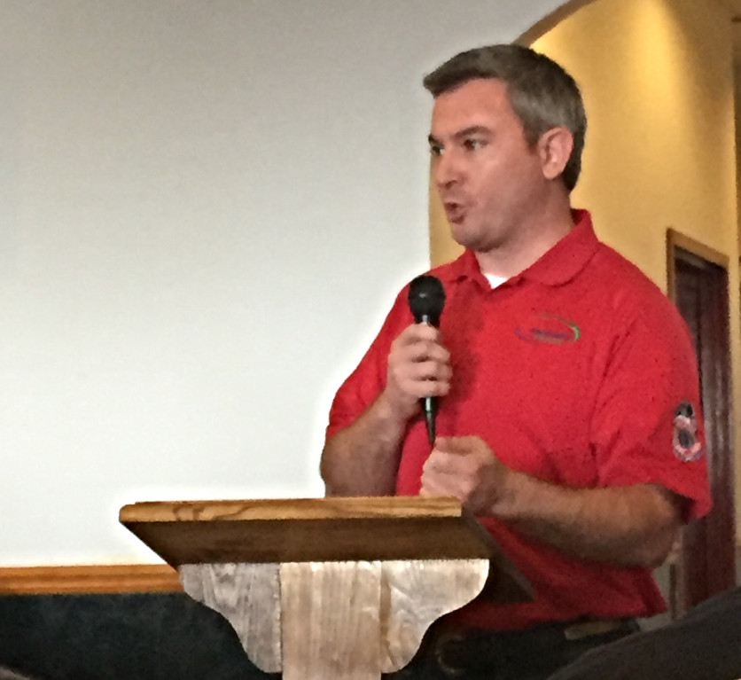 Kentucky Agriculture Commissioner Ryan Quarles at Take Back Kentucky meeting in Elizabethtown.