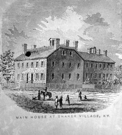 A Drawing of Center Family House at Shaker Village of Pleasant Hill Date Unknown