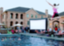 Hott Shotz Outdoor Movie Screen 20'