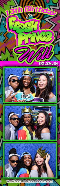 Fresh Prince Bday with Hott Shotz Photo Booth