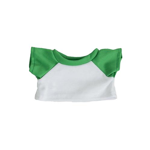 T-shirt blanc et vert - vêtements pour peluche de 40 cm
