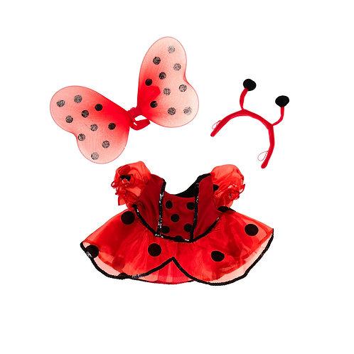 Costume de coccinelle - vêtement pour peluche de 40 cm