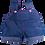 Thumbnail: Salopette en jean et boutons roses - vêtements pour peluche de 40 cm