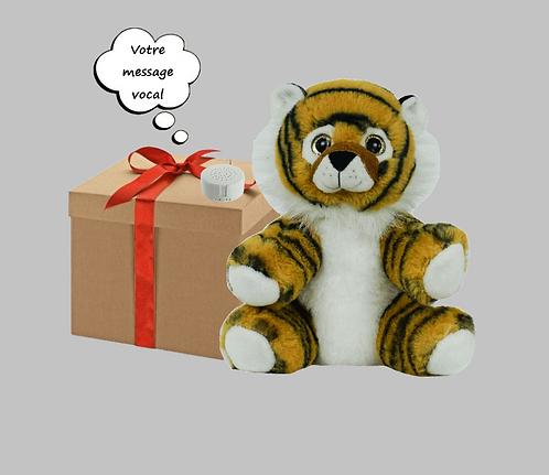 Peluche avec son enregistrable - Tigre de 20 cm