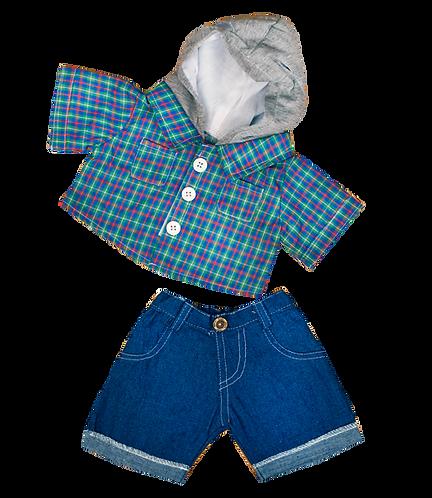 Chemise de skateur avec capuche et jean - vêtements pour peluche de 40 cm