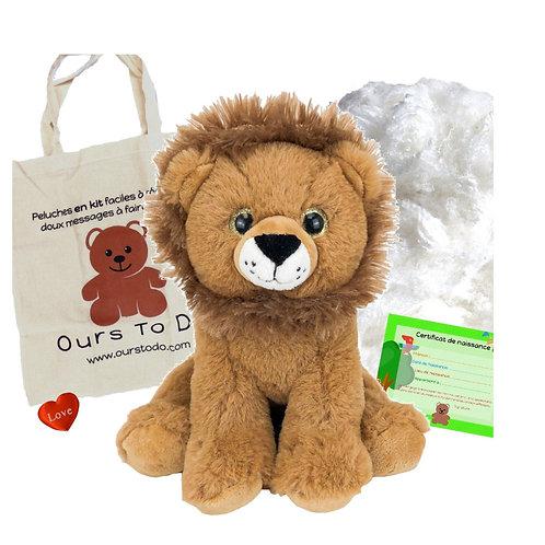 Lion en peluche de 20 cm - Kit  peluche à créer