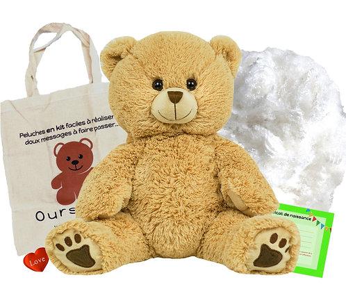 L'ours à poils longs - peluche à créer de 40 cm
