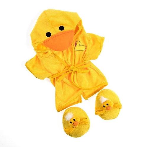 Peignoir et chaussons canard - vêtement pour peluche de 40 cm