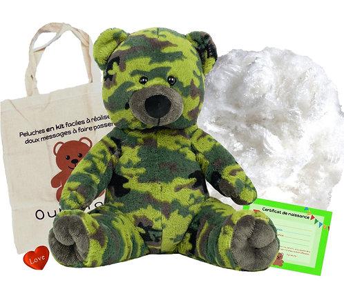 L'ours camouflage - peluche à créer de 40 cm