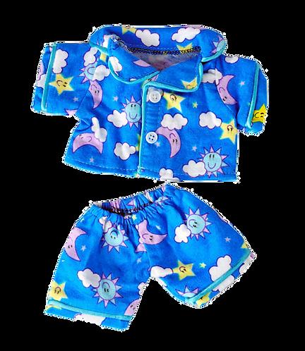Pyjama bleu - Vêtement pour peluches de 20cm