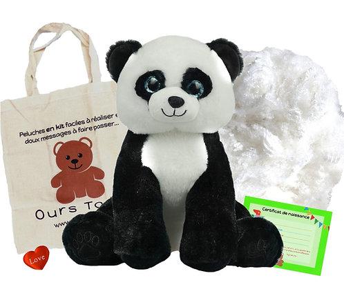 Le panda - peluche à créer de 40 cm