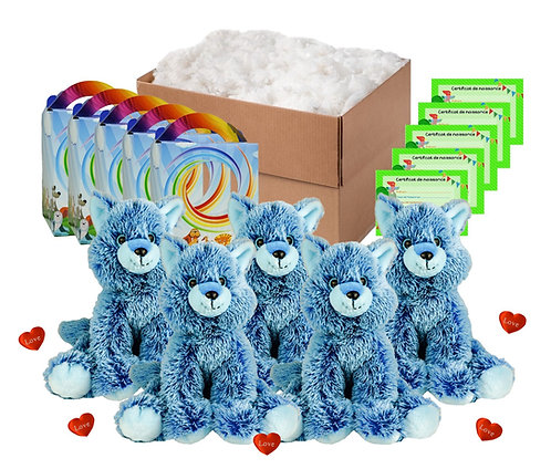 Pack anniversaire renards bleus de 40 cm