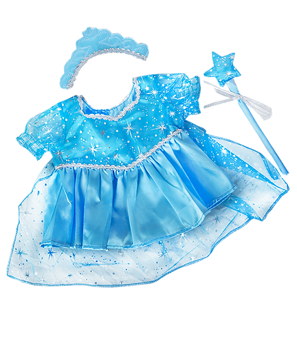 Robe d'Elsa reine des neiges - vêtement pour peluche de 40 cm