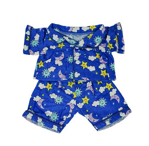 Pyjama bleu - vêtement pour peluche de 40 cm