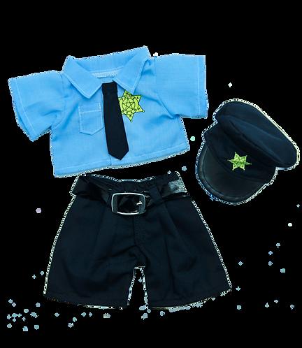 Tenue de policier - Vêtement pour peluches de 20cm