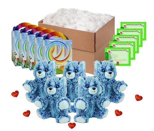 Pack anniversaire renards bleus de 20 cm