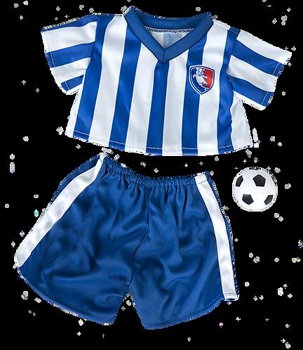 Tenue de footballeur - vêtement pour peluche de 40 cm