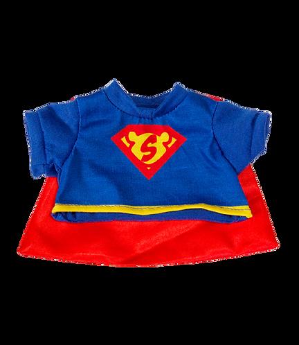 T-shirt de Superbear avec cape - vêtement pour peluche de 20 cm