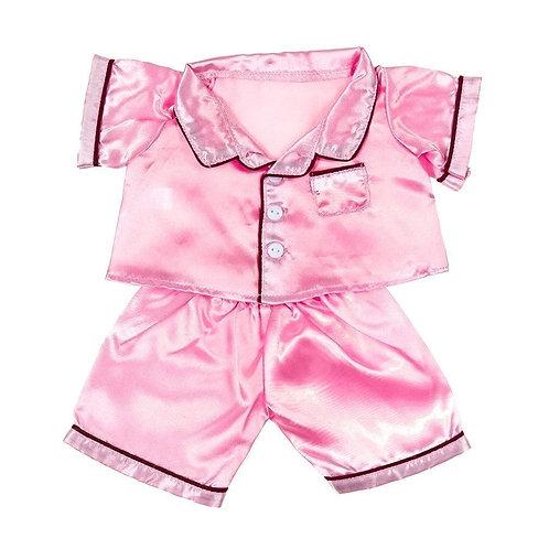 Pyjama rose - vêtement pour peluche de 40 cm