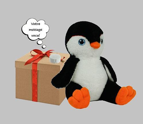 Peluche avec son enregistrable - Pingouin de 20 cm