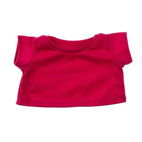 T-shirt fuchsia - vêtement pour peluche de 40 cm