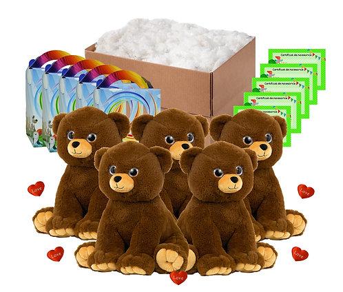 Pack anniversaire ours tendresse de 40 cm