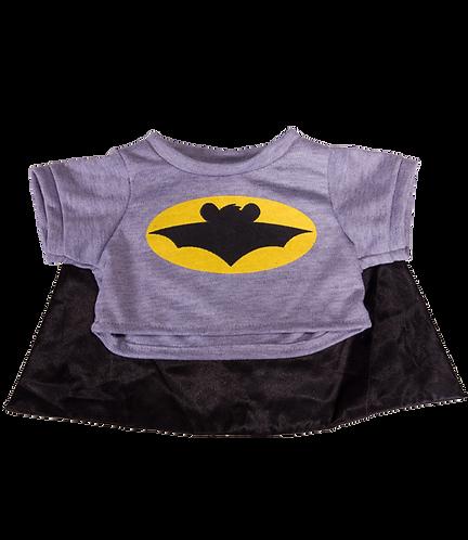 T-shirt de Batman avec cape - vêtement pour peluche de 40 cm