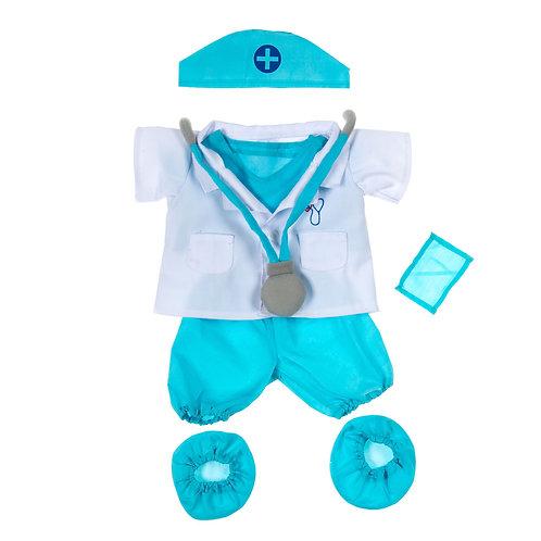 Tenue de médecin - vêtements pour peluche de 40 cm