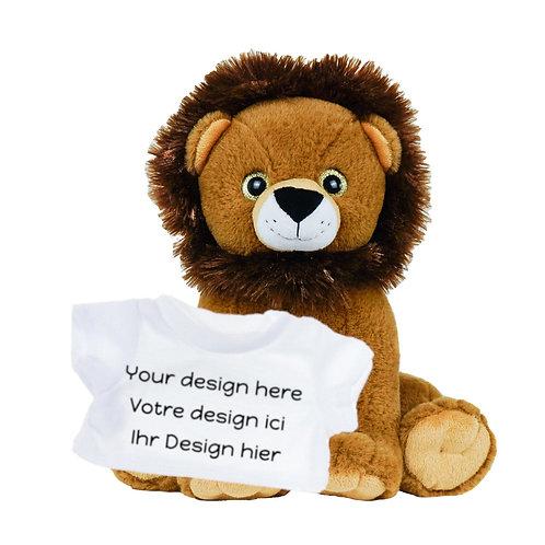 Peluche avec T-shirt personnalisé - Lion en peluche de 40 cm