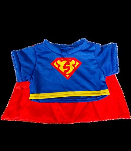 T-shirt de Superbear avec cape - vêtement pour peluche de 40 cm