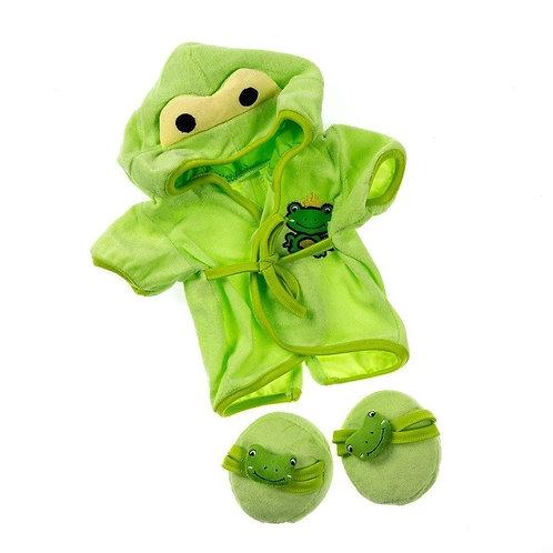 Peignoir Grenouille - vêtement pour peluche de 40 cm