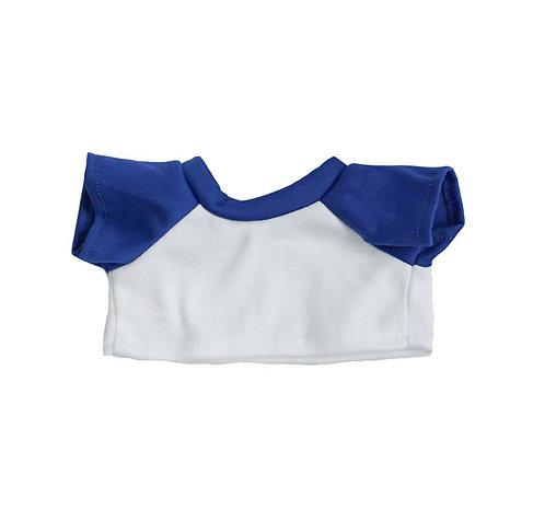 T-shirt blanc et bleu - vêtements pour peluche de 40 cm