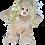 Thumbnail: Perruque blonde cheveux longs - pour peluches de 40 cm