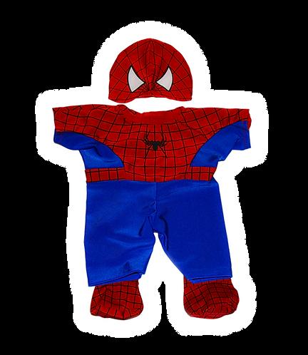 Tenue de Spiderbear - vêtement pour peluche de 20 cm
