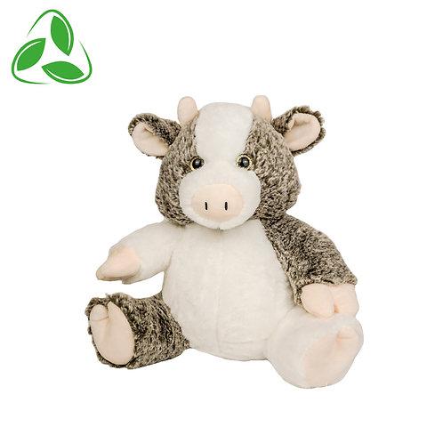 Peluche écologique - Vache en peluche de 40 cm