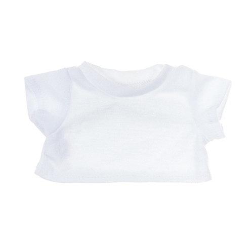 T-shirt blanc - vêtement pour peluche de 20 cm