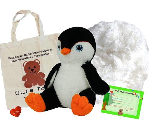 Pingouin noir - peluche à créer de 20 cm