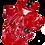 Thumbnail: Ciré rouge coccinelle - vêtement pour peluche de 20 cm