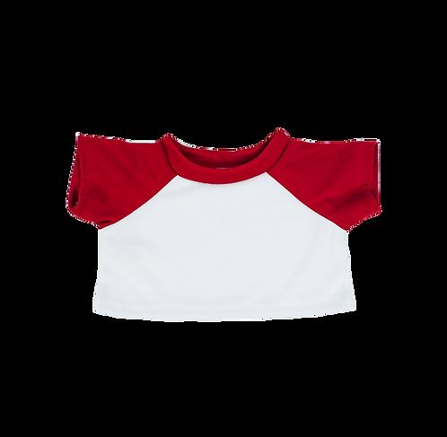 T-shirt blanc et rouge - vêtements pour peluche de 40 cm