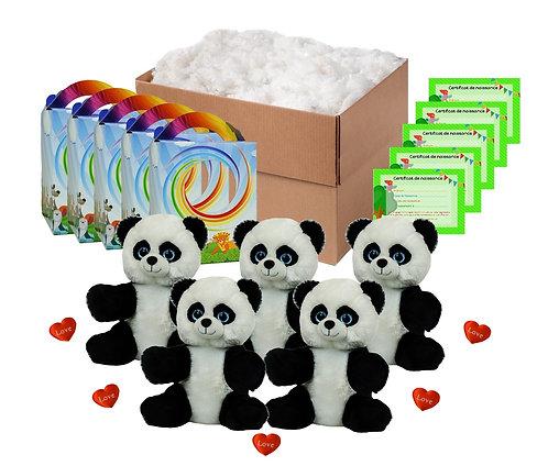 Pack anniversaire pandas de 20 cm