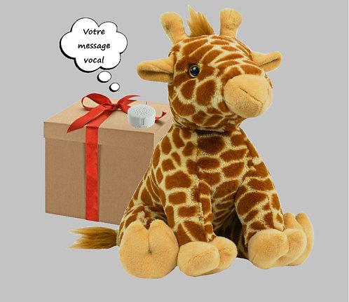 Peluche avec son enregistrable - Girafe en peluche de 40 cm