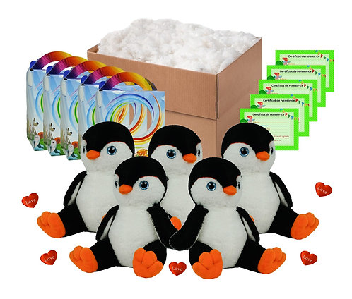 Pack anniversaire pingouins noirs de 20 cm